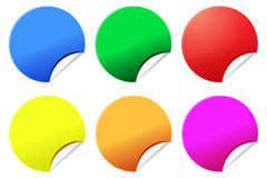 Etiquetas ou etiquetas coloridas Foto de Stock Royalty Free
