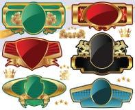 etiquetas Ouro-moldadas ilustração stock
