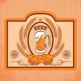 Etiquetas ovales para la cerveza stock de ilustración