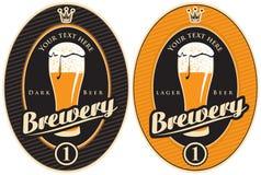 Etiquetas para a cervejaria Imagens de Stock Royalty Free
