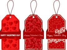 Etiquetas para el día del ` s de la tarjeta del día de San Valentín Imagen de archivo