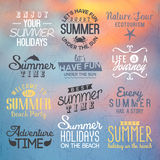 Etiquetas para el diseño del verano Foto de archivo