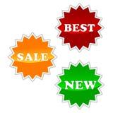 Etiquetas para hacer compras Foto de archivo libre de regalías