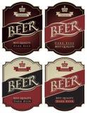 Etiquetas para la cerveza Fotos de archivo libres de regalías