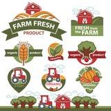 Etiquetas para los productos del mercado de la granja Imagen de archivo libre de regalías