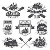 Etiquetas para o clube de esporte do esporte de água perigosa extremo Imagens do vetor de transportar ilustração do vetor