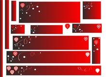 etiquetas para o dia de Valentim Imagens de Stock