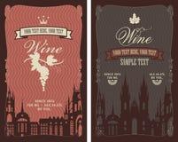 Etiquetas para o vinho Imagens de Stock Royalty Free