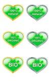Etiquetas para os produtos naturais bio, orgânico, natural Foto de Stock Royalty Free