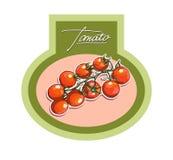 Etiquetas para os produtos vegetais, realísticas Imagem de Stock