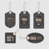 Etiquetas para a venda, vetor Fotos de Stock Royalty Free