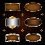 Etiquetas quadro grupo do vetor Fotografia de Stock Royalty Free