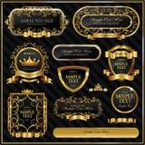 Etiquetas quadro ouro Fotos de Stock Royalty Free