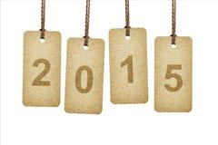 Etiquetas que ponen letras a 2015 Foto de archivo