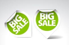 Etiquetas redondas para a venda grande Foto de Stock Royalty Free
