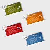 Etiquetas retangulares gráficas da informação em seu bolso Fotografia de Stock