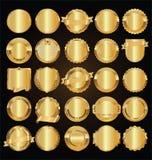 Etiquetas retras de oro vacías y colección de oro del vector de las insignias libre illustration