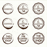 Etiquetas retras del café del vintage Fotos de archivo