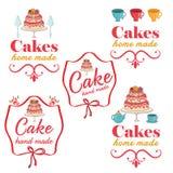 etiquetas retras del logotipo de la panadería del vintage Foto de archivo