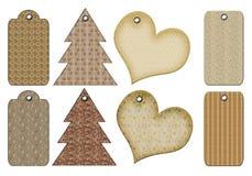 Etiquetas retras del regalo de diversas formas. Imagenes de archivo