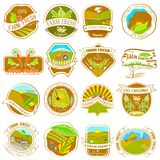 Etiquetas retros da exploração agrícola do vintage Imagem de Stock Royalty Free