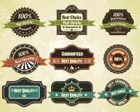 Etiquetas retros da qualidade ilustração stock
