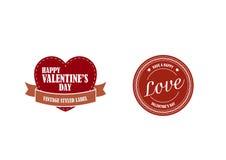 Etiquetas retros do dia dos Valentim Fotos de Stock Royalty Free