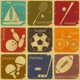 Etiquetas retros do esporte Imagens de Stock