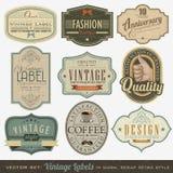 Etiquetas retros do vintage Imagem de Stock