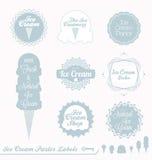 Etiquetas retros e etiquetas do gelado Foto de Stock Royalty Free
