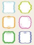 Etiquetas retros em branco ilustração stock