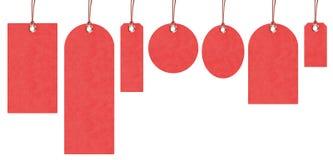 Etiquetas rojas Fotografía de archivo libre de regalías