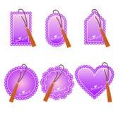 Etiquetas románticas para el día del ` s de la tarjeta del día de San Valentín Fotos de archivo
