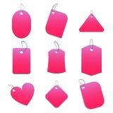 Etiquetas rosadas stock de ilustración
