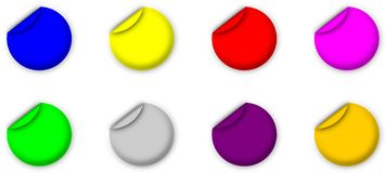 Etiquetas simples Imagem de Stock