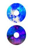 Etiquetas simples para el CD/el DVD Imagen de archivo