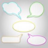 Etiquetas sob a forma de um frame vazio para seu texto Imagem de Stock Royalty Free