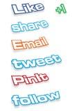 Etiquetas sociais dos media ilustração royalty free