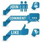 Etiquetas sociais dos media Imagem de Stock Royalty Free