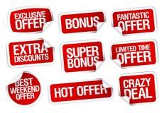 Etiquetas super quentes da oferta ajustadas Imagem de Stock