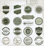 Etiquetas superiores da qualidade Fotografia de Stock