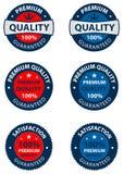 Etiquetas superiores da qualidade ilustração do vetor