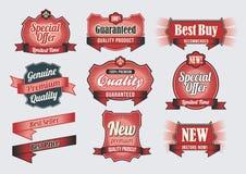 Etiquetas superiores da qualidade & da garantia Fotografia de Stock Royalty Free