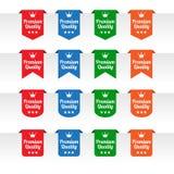 Etiquetas superiores de la etiqueta del papel de calidad Fotografía de archivo libre de regalías