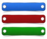 Etiquetas texturizadas del producto con los agujeros de remache dobles Imágenes de archivo libres de regalías