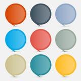 Etiquetas vazias coloridas do círculo - grupo de etiquetas Imagem de Stock