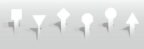 Etiquetas vazias de papel Imagem de Stock Royalty Free