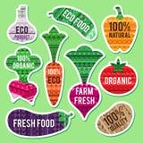 Etiquetas vegetais Imagens de Stock Royalty Free