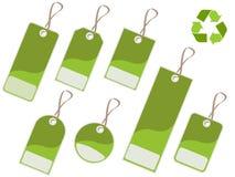 Etiquetas verdes Fotografía de archivo libre de regalías
