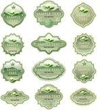 Etiquetas verdes do eco